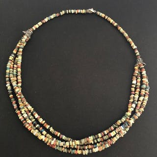 75374b6ff6 Ancient Egyptian Faience Necklace circular beads large
