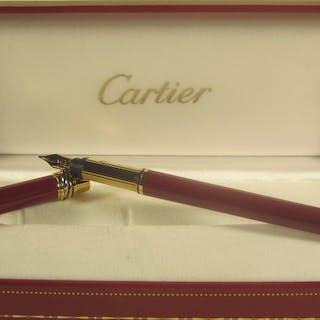Cartier - Edler und exklusiver lackierter Füllfederhalter - Originalverpackung -