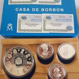 España - 10.000 pesetas (cincuentin) + ( 3 x 2000...