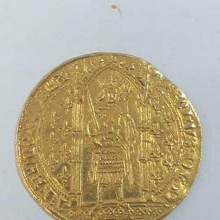 France - Charles V (1364-1380) - Franc à pied - Gold