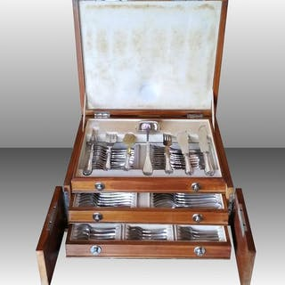 Cutlery set - .800 silver - Cesa 1882 - Italy - First half 20th century