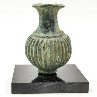 Medieval Viking Era Bronze Mace Head on Stand