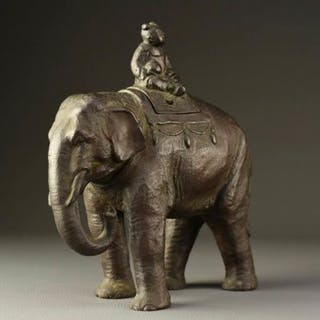 Koro, Okimono - bronze - Very beautiful and realistic...