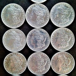 EE. UU. - Colección deDollar 1879-1926 (13 pieces) - Plata