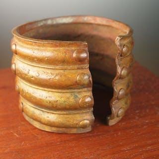 Bracelet - Bronze africain - Baoulé - Côte d'Ivoire