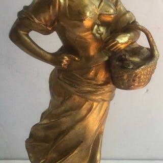 Eduard Drouot (France 1859-1945) - Woman carrying a...