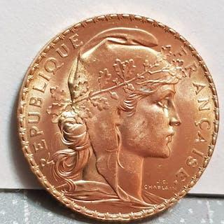 France - 20 Francs 1912 Marianne - Gold