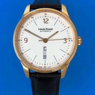 Louis Erard - Heritage Collection White Dial Brown Strap...