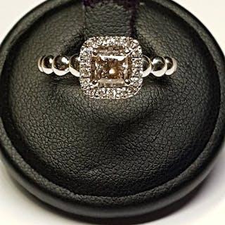 No Reserve Price - 18 carati Oro bianco - Anello - 0.71 ct Diamante - Diamanti