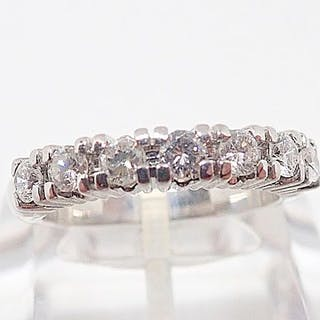18 quilates Oro blanco - Anillo - 0.75 ct Diamante
