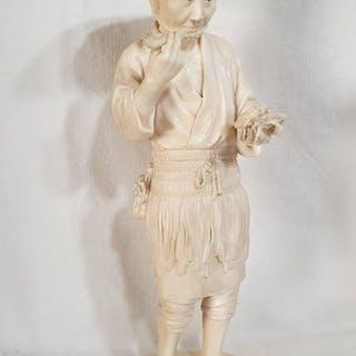 Okimono (1) - Avorio di elefante - Giappone - Periodo Meiji (1868-1912)