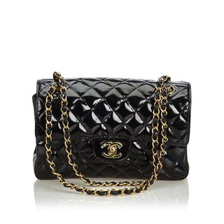 6881dc705 Chanel - Classic Small Patent Leather Double Sided Bag Shoulder bag