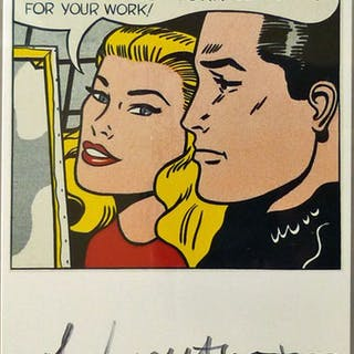 Roy Lichtenstein - Masterpiece - handsigniert
