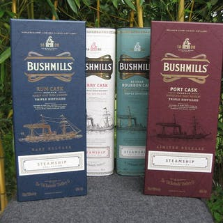 Bushmills Steamship Collection Set - 2x 70cl & 2x 1Ltr - 4 flaschen