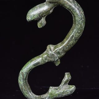 Medieval Viking Era Bronze Dragon Fafnir Amulet