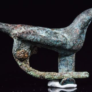 Ancient Roman Bronze Dove Brooch