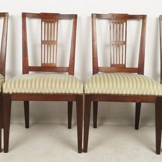 Dining room chair (4) - Louis XVI - Mahogany - Approx. 1810