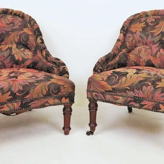 Knitting Chair (2) - Victorian - Mahogany - Late 19th century
