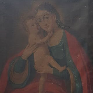 Scuola italiana del XVIII secolo  - Madonna con bambino