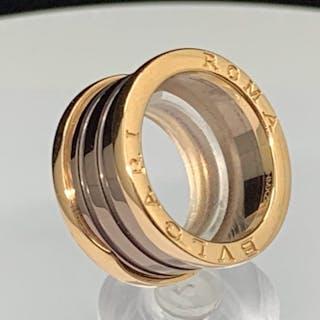 Bvlgari - 18 kt. Rose Gold and Cemet - B.zero1 two-band ring
