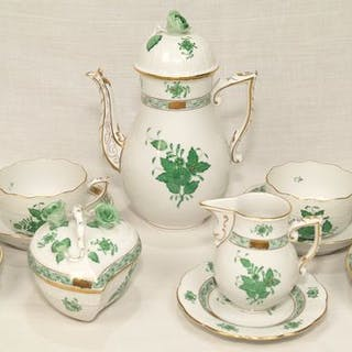 Apponyi verde - 1.a scelta - Herend - Tea service X 4 (13) - Porcelain