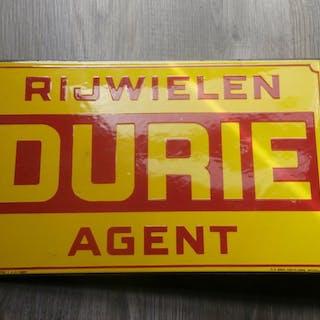 DURIE - Enamel Advertising Board - 1937