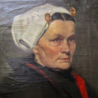 Bernardus Johannes Blommers (1845-1914) - Scheveningse vrouw