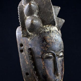Facial Mask - Wood - Baoulé - Ivory Coast