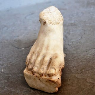 Ancient Roman Marble life-size sculpture of a foot- 11.5×8×21.5 cm