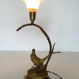 lampe Faisant signée Jules Moigniez  - Bronze (doré) - Fin du XIXe siècle