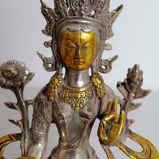Tara - Bronzo patinato - Tibet - Fine XX secolo