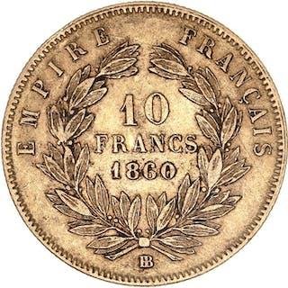 France - 10 Francs 1860-BB Napoléon III - Gold