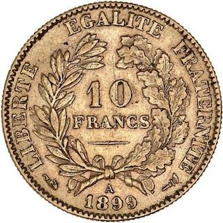 France - 10 Francs 1899-A Ceres - Gold