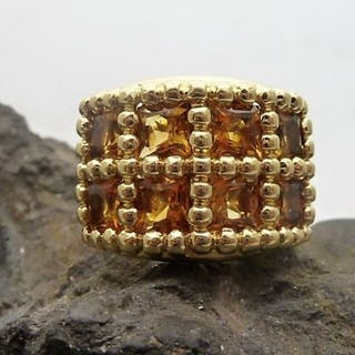 18 kt. Yellow gold - Ring - Citrines