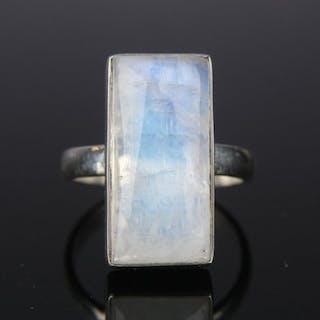 925 Silber - Ring Mondstein