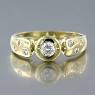 14 kt. Yellow gold - Ring - 0.32 ct Diamond