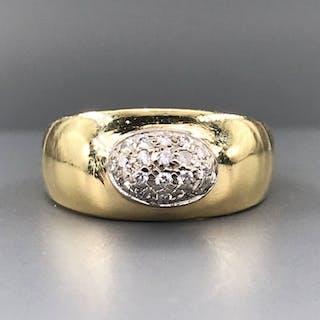 18 carati Oro giallo - Anello - 0.07 ct Diamante