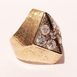 18 kt. Gold - Ring - 1.75 ct Diamond - Diamond