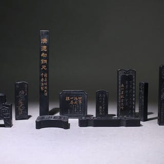 Inksticks (10) - Stone - China - Late 20th century