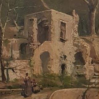 Vincenzo Caprile(1856-1936) - Paesaggio della costiera