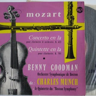 W.A. MOZART Collection of 13 (14lp's) albums with Chamber...
