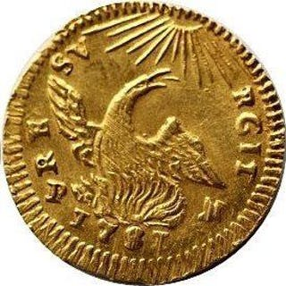 Italy - Sicily - Oncia d'Oro1751 Carlo von Bourbon 1734-1759- Gold