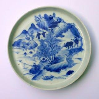 Teller - Bleu de Hue - Porzellan - Master of the rocks Style - China - 19
