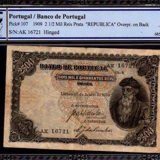 Portugal - 2500 Reis 1909 - Pick 107