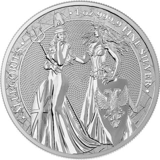 Deutschland - 5 Mark 2019 Britannia & Germania - Allegories - 1 oz - Silber
