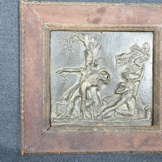 Italia - Antica scultura in bassorilievo della disfatta di Napoleone a Waterloo