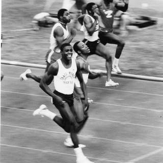 Unknown/ABC - Carl Lewis and Calvin Smith as they head into Summer Olympics