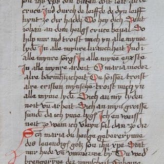 Manuscript - Original page from the 16th century- 1550