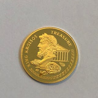 Kasachstan - 100 Tenge 2004 King Kroisos Treasure - 1/25 oz- Gold