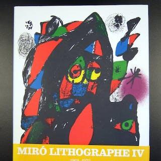 Joan Miro - Lithographe IV - 1979